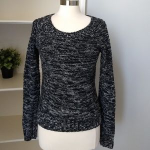VICTORIA'S SECRET Sweater Small Black Elbow Patch